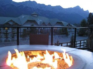 Canmore condo photo - Communal Terrace outdoor Firepit