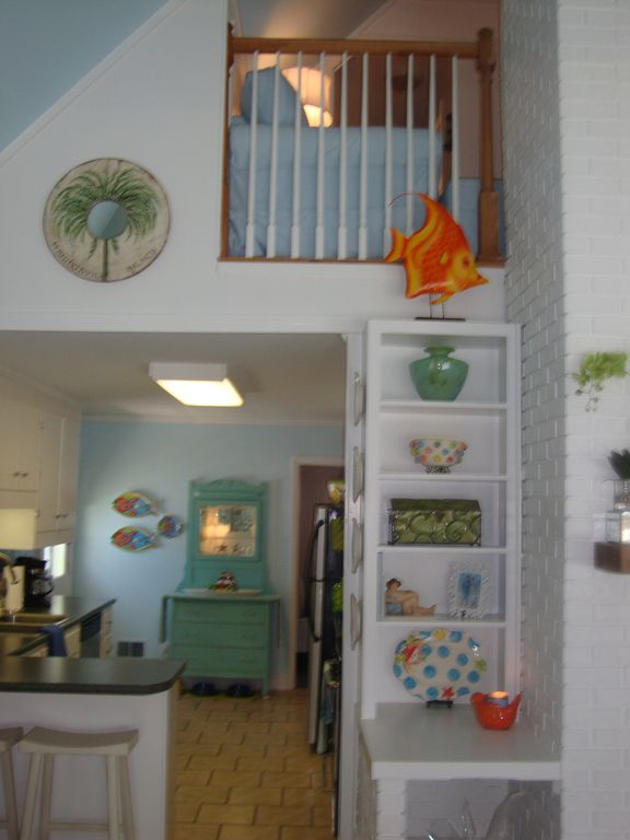 Reading loft over kitchen.