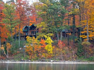 Cooperstown lodge rental - The Treehouse surrounded by Fall colors; a great spot for year round vacationing