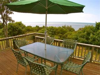 Brewster house photo - Large deck serves up Bay views and sunsets