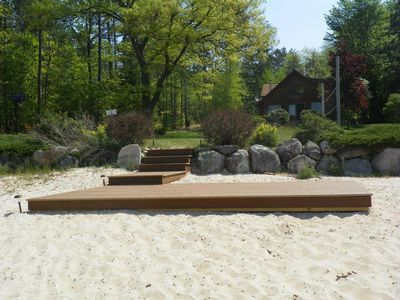 TREX beach platform! Ideal for sunning, sunset watching, yoga, etc!