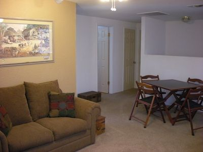 Upstairs Living Area with Card Table & Games