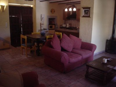 Jalon villa rental - Open plan living area
