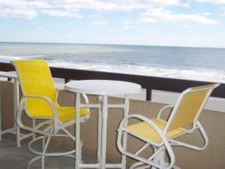 Cherry Grove Beach condo photo - .Oceanfront Views from your Large Balcony with 4 Captains Chairs