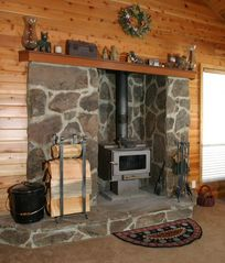 Tahoe Donner cabin photo - Wood burning stove
