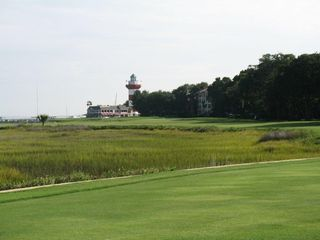 Sea Pines condo photo - 18th fairway of Harbourtown Links for World Class Golf