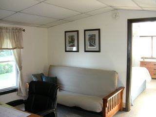 Freeport cottage photo - Full size futon in office area on 2nd floor