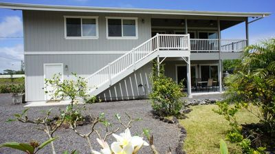 "Pahoa house rental - Exterior - Hau'oli Hale ""Happy House"" is a great vacation spot!"