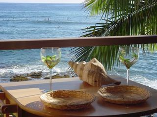 Poipu condo photo - Toast the Sunset from your balcony. NEW: BALCONY TABLE/CHAIRS SINCE THIS PHOTO