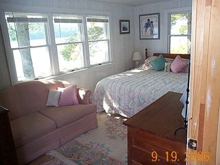 Grand Lake Stream cabin photo - Lakeside King Bedroom