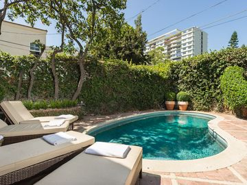West Hollywood house rental - sunny private pool