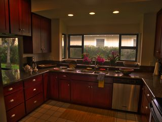 Poipu house photo - Spacious up-to-date kitchen with granite countertops
