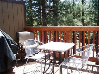 Tahoe Valley townhome photo - Private Deck with Furnishings