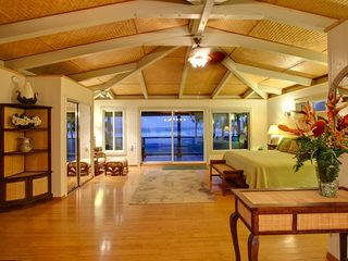 Kapoho house photo - Spacious Upstairs Ocean Front Master Suite Furnished with King Size Bed