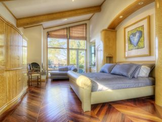 Master bedroom with private patio. - Tiburon house vacation rental photo