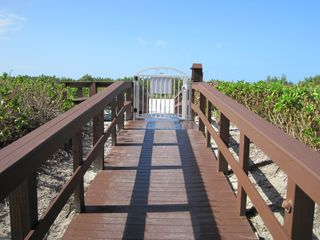 South Seas Club condo photo - Boardwalk to the Beach, beach chairs included in unit to enjoy the sunsets