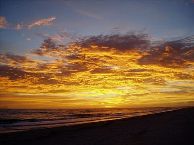 Sunset over Sanibel - we have the best sunsets on the island
