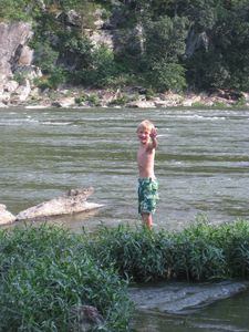 playing on the Shenandoah River, Harpers Ferry