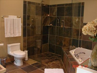 Master Bath, Jacuzzi Tub and Open Shower