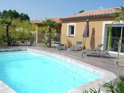 Villa near the Ardeche river with beautiful decor and homemade paintings
