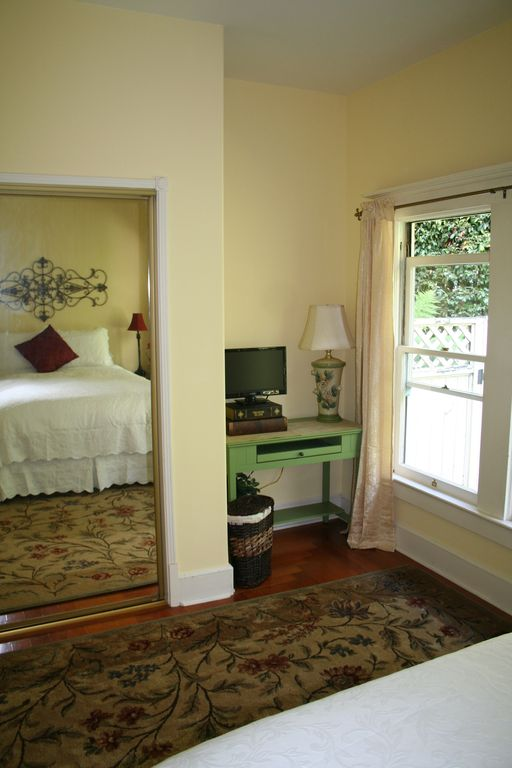 Large closet and views of the garden