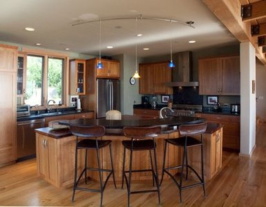 Dream kitchen with large bubinga island