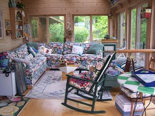 Elkhorn house photo - A little slice of sunporch heaven, with a sleeper sofa that's actually comfy!