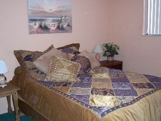 Madeira Beach condo photo - Guest bedroom with gorgeous new bedspread