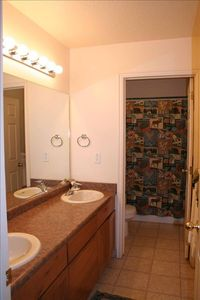 One of two downstairs bathrooms