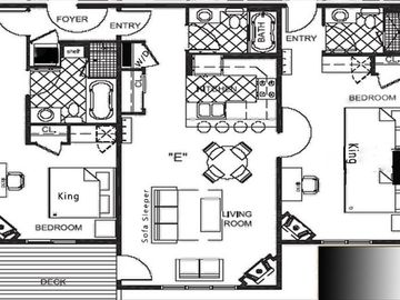 Floor Plan - Both Beds are the same size (King)