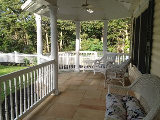 Hampton Bays house photo - Enjoy serenity on the beautiful porch with Gazeebo.