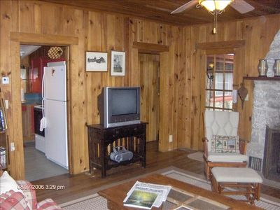 Family Room with Cable TV, HBO, VCR & Portable Radio/CD Player.