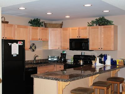 The fully updated kitchen with everything you need for home-cooked meals
