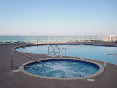 One of Two Pools with Hot Tubs Overlooking the Gulf