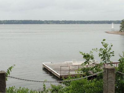 Stunning Lakefront Views Off of Patio with Shared Day Dock
