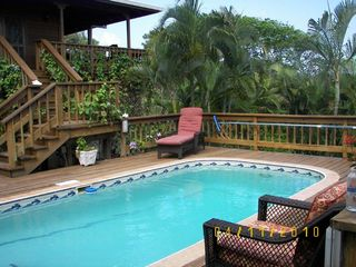 Roatan house photo - Poolside at Casa & Casita Cervantes