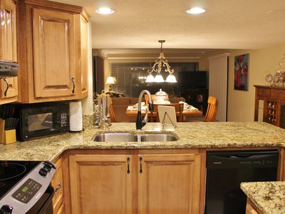 BEAUTIFUL GRANITE COUNTER TOPS AND COMPLETELY UP TO DATE KITCHEN