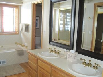 Master bathroom #1 with separate tub and shower and walk-in closet