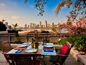 Coronado house rental - Beautiful view of downtown San Diego from your comfortable patio