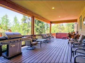 Covered Deck and Private Hot Tub