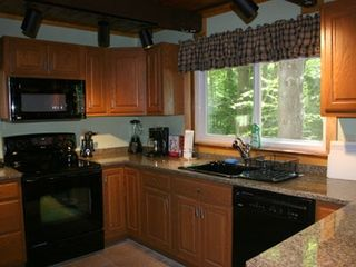 North Conway house photo - Fully applianced granite kitchen w/convection oven