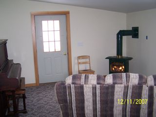 Stephentown farmhouse photo - Game Room With Gas Stove