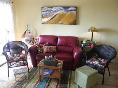 Living Room with original art from San Clemente.