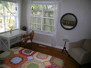Lakeway cottage photo - Queen bed in 2nd bedroom downstairs and includes a writing desk and bunk beds