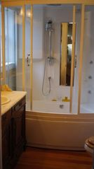 Ashland house photo - Master bathroom features steam/shower/massage tub unit