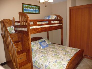 Ready for kids or couple, twin loft, queen bed