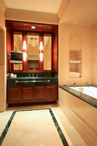 Beatuiful and Incredibly Spacious Marble Bathroom