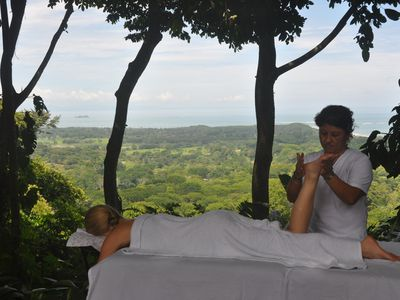 Enjoy a massage on the deck. Spa services can be arranged.