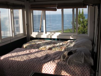 Waking up to a bay view.