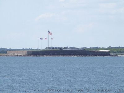 Fort Sumter - taken from porch with telescopic lens